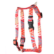 "Bohemian Patchwork Roman Style ""H"" Dog Harness"