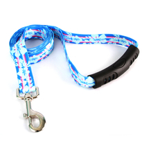 Tropical Flowers EZ-Grip Dog Leash