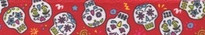 Sugar Skulls Red EZ-Grip Dog Leash