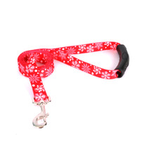 Red Snowflakes EZ-Grip Dog Leash