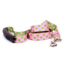 Pink and Green Polka Dot EZ-Grip Dog Leash