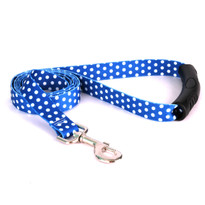 Navy Polka Dot EZ-Grip Dog Leash