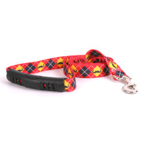 Mustaches With Argyle EZ-Grip Dog Leash
