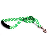 Lime Polka Dot EZ-Grip Dog Leash