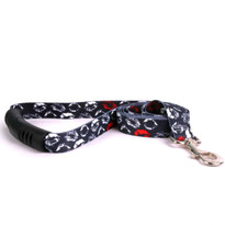 Kisses Black EZ-Grip Dog Leash