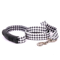 Houndstooth White and Black EZ-Grip Dog Leash