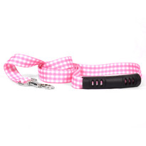Gingham Pink EZ-Grip Dog Leash