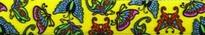 Butterflies on Yellow EZ-Grip Dog Leash