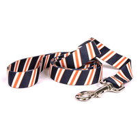 Team Spirit Navy, Orange and White Dog Leash