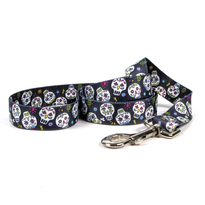 Sugar Skulls Black Dog Leash
