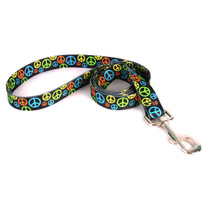 Neon Peace Signs Dog Leash