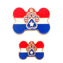 Patriotic USA Bone Dog Tags With Custom Engraving