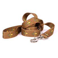 Fleur de Lis Gold Dog Leash
