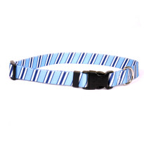 Team Spirit Lt. Blue, Dark Blue and White Dog Collar