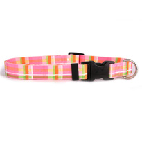 Madras Pink Dog Collar