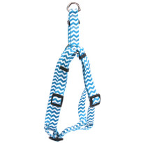 Chevron - Blueberry Step-In Dog Harness