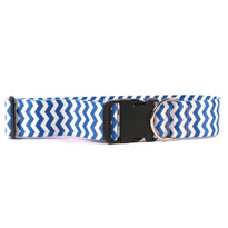 2 Inch Wide Chevron Blueberry Dog Collar