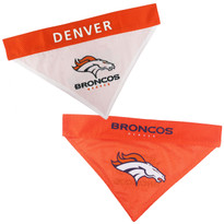 Reversible Denver Broncos NFL Pet Bandana