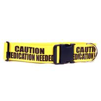 2 Inch - Caution Medication Needed Dog Collar