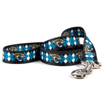 Jacksonville Jaguars Argyle Dog Leash
