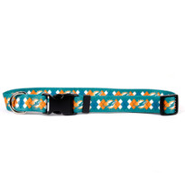 Miami Dolphins Argyle Dog Collar