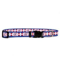 New York Giants Argyle Dog Collar