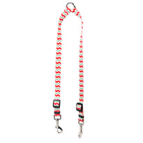 Peppermint Stick Chevron Stripes Coupler Dog Leash