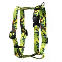 "Neon Camo Roman Style ""H"" Dog Harness"
