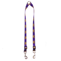 Purple and Gold Skulls Coupler Dog Leash