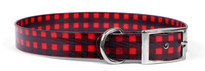 Buffalo Plaid Red Elements Dog Collar