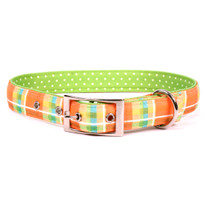 Madras Orange Uptown Dog Collar