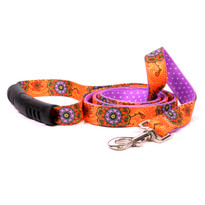 Folk Flowers Uptown Dog Leash