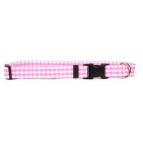Gingham Pink Break Away Cat Collar