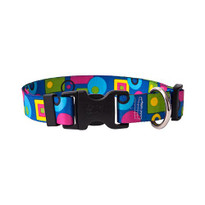 Blue Geometric Break Away Cat Collar