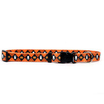 Orange Argyle Halloween Break Away Cat Collar