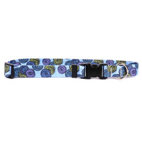 Spirals Blue Break Away Cat Collar