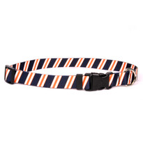 Team Spirit Navy, Orange and White Break Away Cat Collar