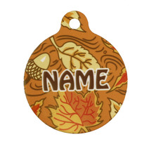 Fall Leaves Pet ID Tag