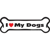 I Love My Dogs BONE Magnet