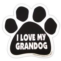 I Love My Grandog Paw Magnet