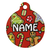 Holiday Treats HD Pet ID Tag