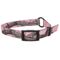 Real Tree Pink Camouflage Buckle Dog Collar - D In Center