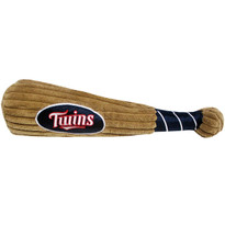 Minnesota Twins Baseball Bat Squeaker Dog Toy