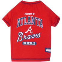 Atlanta Braves Tee Shirt For Dogs