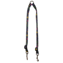 Paisley Skulls Multi Coupler Dog Leash