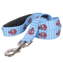 Anchors on Blue Stripes EZ-Grip Dog Leash