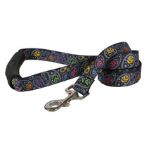 Paisley Skulls Multi EZ-Grip Dog Leash