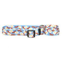 Bacon And Eggs Martingale Dog Collar