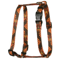 Dragon Wave Orange Roman Style H Dog Harness