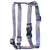 Multi Tweed Roman Style H Dog Harness